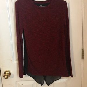 Sweaters - Red sweater with black sheer back